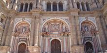 Fachada principal de la Catedral de Málaga, Andalucía