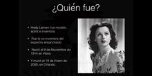 MUJERES PARA LA HISTORIA - HEDY LAMARR