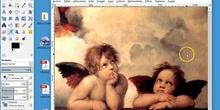 Redimensinando a los angelitos en Gimp
