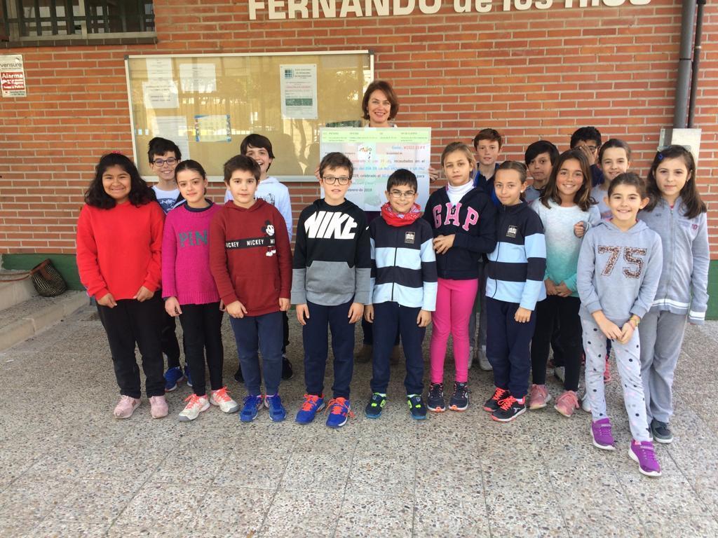 2019_02_19_Entrega cheque Mercadillo Solidario 2019_CEIP FDLR_Las Rozas 3