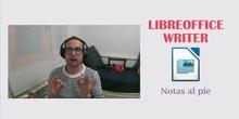 LibreOffice Writer - Notas al pie