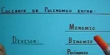 Polinomio entre Binomio