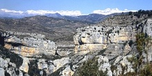 Barranco de Mascún con la Sierra de Guara al fondo, Huesca