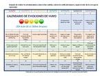 Calendario emociones mayo 2020