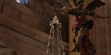 Lámpara en la Catedral de Guadix, Granada, Andalucía