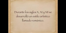 5º sociales La Reconquista. Arte