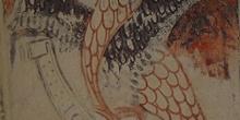 Grabado de cabeza de águila que representa a San Juan, Huesca