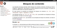 HTML Bloques de contenido