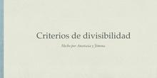 RIMARIA - 6º - MATEMÁTICAS - CRITERIOS DE DIVISIBILIDAD - FORMACIÓN