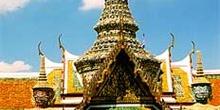 Entrada guardada por guerreros, Tailandia