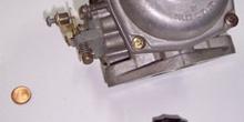 Depósito, tapón, nivel de un carburador atmosférico refrigerado