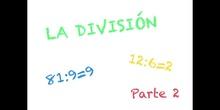 PRIMARIA 3º EP - LA DIVISIÓN PARTE 2 - MATEMÁTICAS_FORMACIÓN