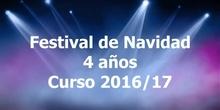 Festival de Navidad. 4 años. Curso 2016/17