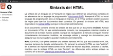 HTML Sintaxis
