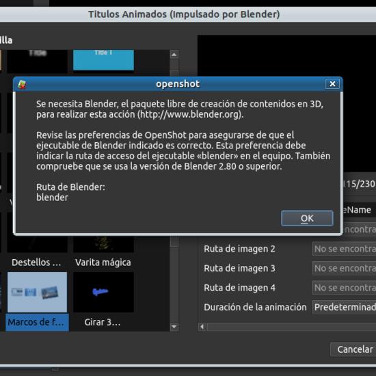 Openshot pide Blender