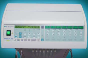 Presoterapia: consola con valores de tensión arterial