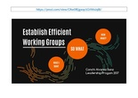 Establish Efficient Working Groups