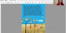 "Cuento ""Ginger the Giraffe"""