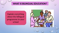 how to explain families what is bilingual education