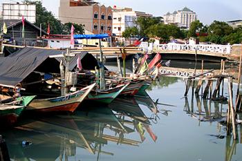 Barcas de pescadores, Jakarta