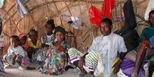 Interior de cabaña, Rep. de Djibouti, áfrica