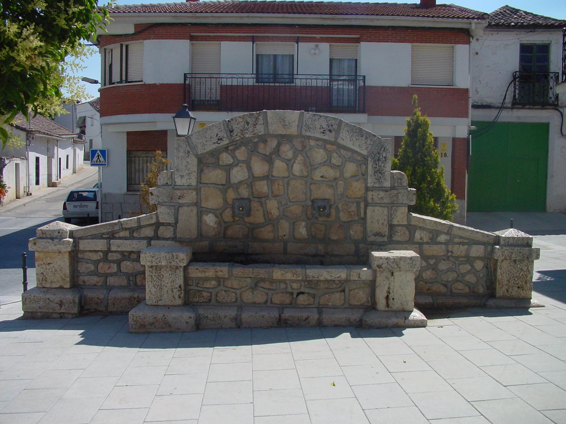Fuente de piedra en Santorcaz
