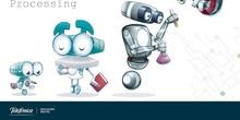 Robot que avanza y cambia de color