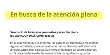 Trabajo Final Seminario Fortalezas personales y Atención Plena. IES Salvador Dalí. Curso 2020-2021