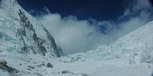 Cascada de hielo del Khumbu, vista desde arriba