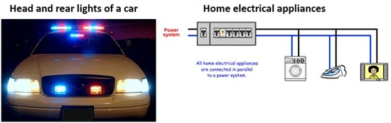 Parallel circuit car and home appliances