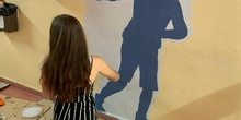 Intervención artística en el pasillo de 2º ESO del edificio B 3