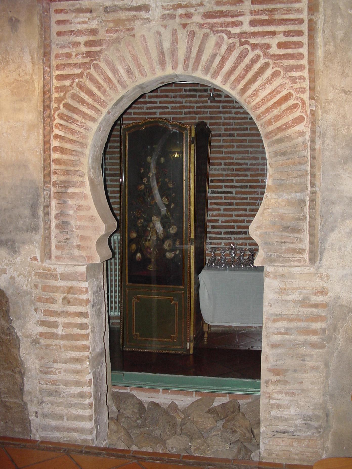 Detalle de arco en Villavieja del Lozoya