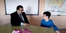 #cervanbot: visita del alcalde de Leganés, Santiago Llorente, y entrevista de los alumnos