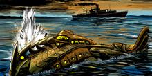 Veinte mil leguas de viaje submarino: El Nautilus es bombardeado