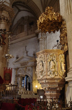 Púlpito de la Catedral de Guadix, Granada, Andalucía