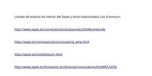Enlaces internet Erasmus