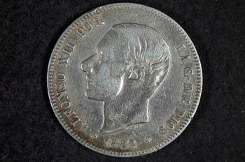 Moneda de Alfonso XII