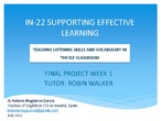 IN-22 SUPPORTING EFFECTIVE LEARNING Teaching Listening and Vocabulary
