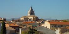 Vista de Torrelaguna con la iglesia de la Magdalena al fondo