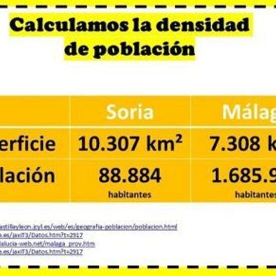 Problema de cálculo de densidad de población.