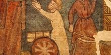 Grabado de milagro de San Nicolás de Bari, Huesca