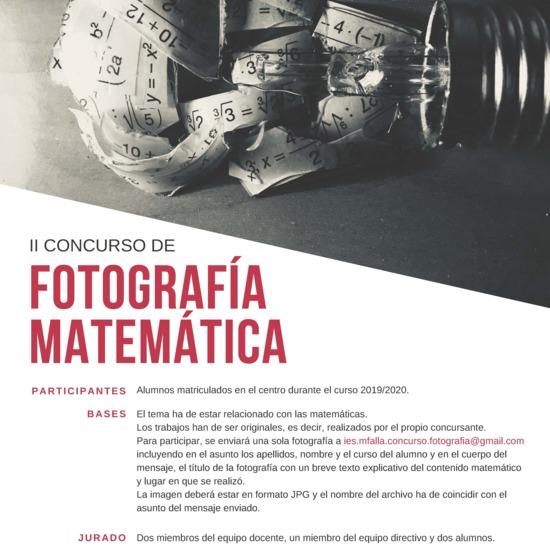 Fotografía Matemática 2020