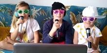 Alonso, Sara y Eva