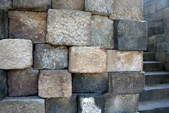 Muros de piedra, Templo Borobudur, Jogyakarta, Indonesia