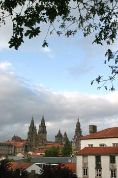 Vistas desde Parque de la Alameda, Santiago de Compostela, La Co