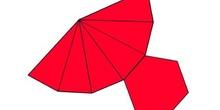 Desarrollo de una pirámide de base exagonal