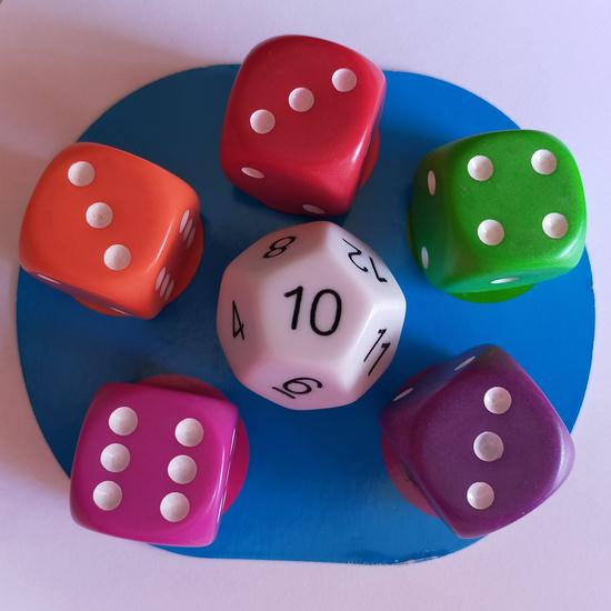 Juego dados: Math dice jr. 5