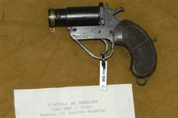 Pistola de señales Calibre 1 Pulg., Museo del Aire de Madrid