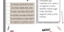 PRIMARIA 6º - LENGUA CASTELLANA Y LITERATURA - LOS ADVERBIOS