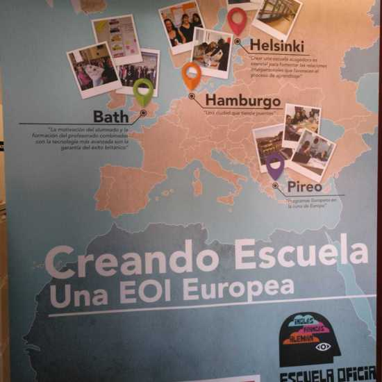 Mapa de las movilidades ERASMUS+ de la EOI Rivas-Vaciamadrid